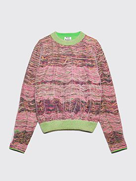 Acne Studios Klement Layered Knitted Sweater Red / Brown