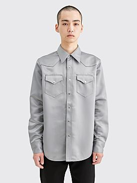 Acne Studios Satin Shirt Silver Grey