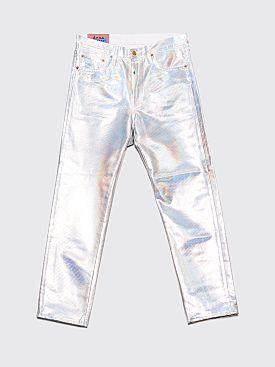 Acne Studios Blå Konst 1996 Holographic Foil Jeans White