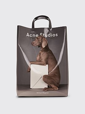 Acne Studios Baker Ap Tote Bag Grey / White