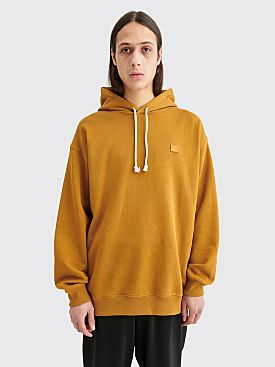 Acne Studios Farrin Face Hooded Sweatshirt Caramel Brown