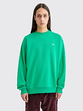 Acne Studios Forba Face Sweatshirt Emerald Green