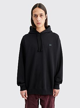 Acne Studios Farrin Face Hooded Sweatshirt Black