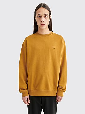 Acne Studios Forba Face Sweatshirt Caramel Brown