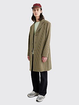 Acne Studios Ovidius Coat Vichy Check Brown / Yellow