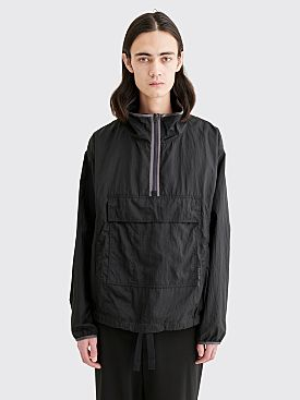 Acne Studios Odion Nylon Half Zip Anorak Jacket Black