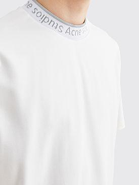 Acne Studios Extorr Logo Neck T-shirt Optic White