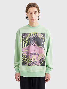 Acne Studios Forban Soltice Sweatshirt Pale Green