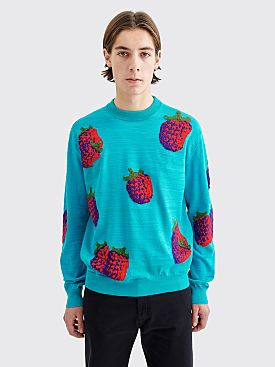 Acne Studios Koray Fruits Sweater Turquoise