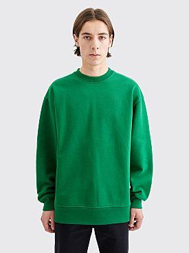 Acne Studios Forban Sweatshirt Pink Label Moss Green