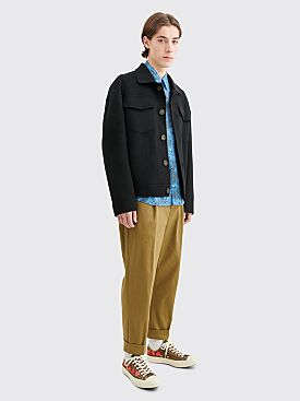 Acne Studios Dagnite Cropped Wool Jacket Black