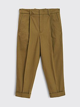 Acne Studios Pierre Cropped Pants Olive Green