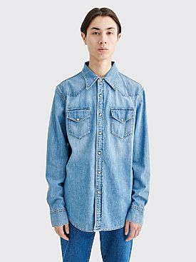 Acne Studios Blå Konst 2001 Denim Shirt Mid Blue Trash