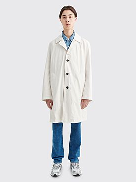 Acne Studios Oleg Oversized Trench Coat White