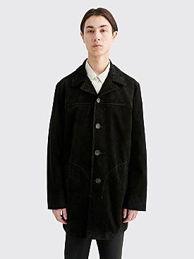 Acne Studios Loper Suede Jacket Black