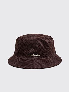 Acne Studios Brun Corduory Bucket Hat Coffee Brown