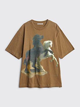 Acne Studios Extorr Horse Print T-shirt Hunter Green