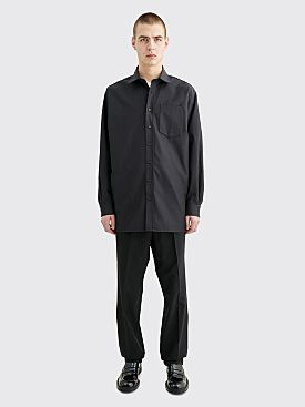 Acne Studios Atlent Shiny Poly Shirt Black