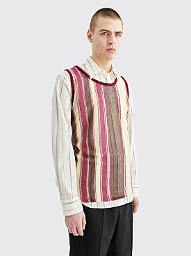 Acne Studios Kepler Striped Vest Purple Multicolor