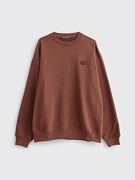 Acne Studios Forba Face Sweatshirt Dark Brown
