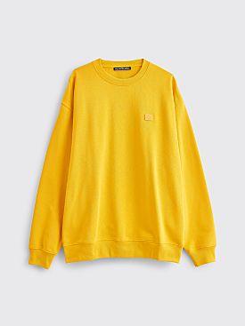 Acne Studios Forba Face Sweatshirt Honey Yellow