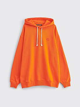 Acne Studios Farrin Face Hooded Sweatshirt Dark Orange