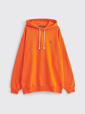 Acne Studios Farrin Face Hooded Sweatshirt Dark Orange