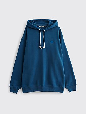 Acne Studios Farrin Face Hooded Sweatshirt Midnight Blue