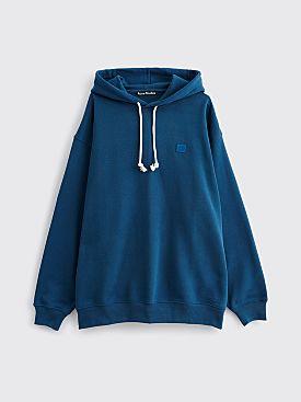 Acne Studios Farrin Face Hooded Sweatshirt Midnight Blue