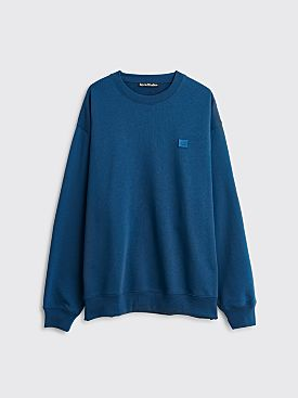 Acne Studios Forba Face Sweatshirt Midnight Blue