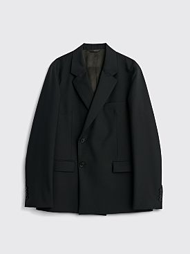 Acne Studios Jof J Wool Mohair Plain Suit Jacket Black