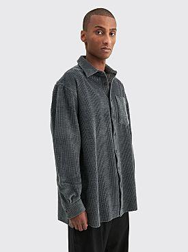 Acne Studios Atlent Corduroy Overshirt Charcoal Grey