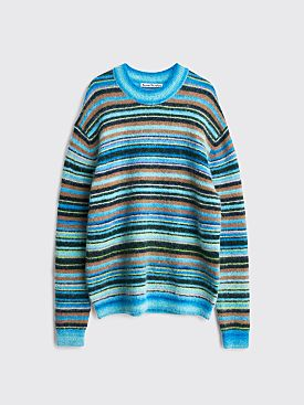 Acne Studios Nosti Sweater Stripe Azure Blue / Light Blue