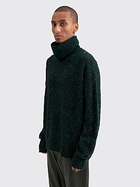 Acne Studios Nyran Flecked Melange Knitted Sweater Black / Green