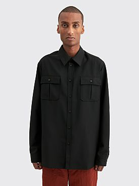 Acne Studios Sumaco Wool Mohair Shirt Black
