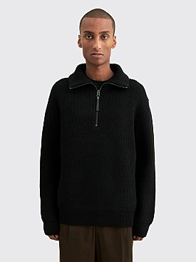 Acne Studios Konan Half Zip Sweater Black