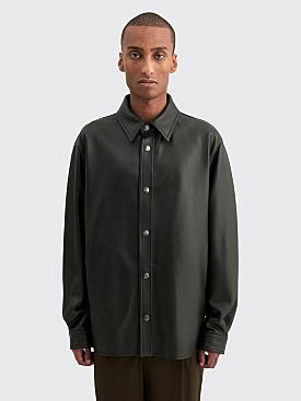 Acne Studios Lark Nappa Leather Overshirt Black