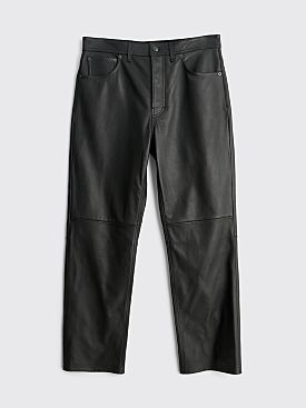 Acne Studios Lancelot Trousers Black Leather