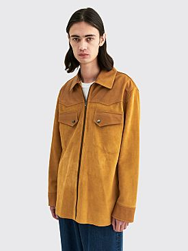 Acne Studios Lester Leather Jacket Light Camel