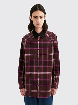 Acne Studios Sicaba Check Flannel Shirt Brown / Purple