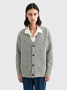 Acne Studios Kabelo Wool Cardigan Medium Grey Melange
