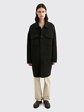 Acne Studios Damman Mel Double Wool Jacket Anthracite / Black