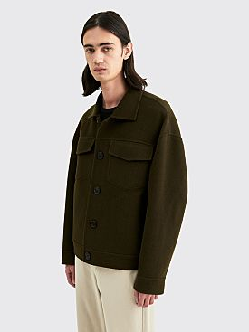 Acne Studios Dagnite Twill Double Wool Jacket Hunter Green