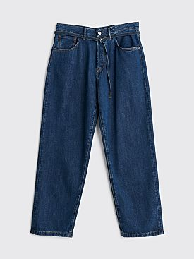 Acne Studios 1991 Toj Jeans Dark Blue Tencel