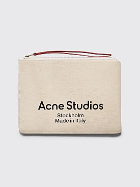 Acne Studios Malachite Canvas Wallet Beige