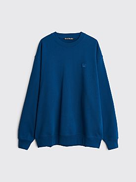 Acne Studios Forba Face Sweatshirt Très Bien Exclusive Blue