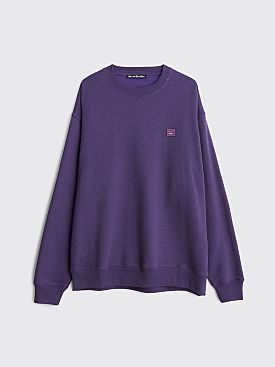 Acne Studios Forba Face Sweatshirt Electric Purple