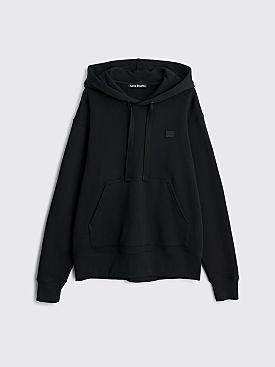 Acne Studios Ferris Face Hooded Sweatshirt Black