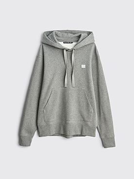 Acne Studios Ferris Face Hooded Sweatshirt Light Grey Melange