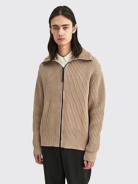 Acne Studios Zippered Sweater Hazel Beige